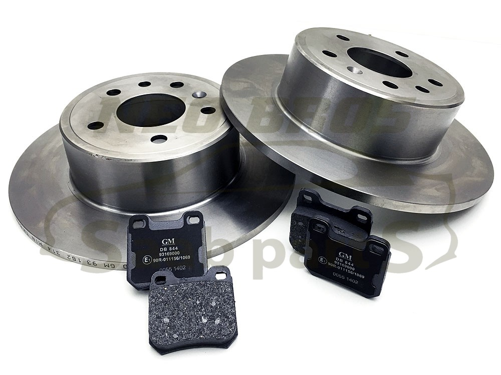 saab 900 9 3 93 9 5 95 genuine rear brake pads discs kit 286mm 93182599 ebay. Black Bedroom Furniture Sets. Home Design Ideas